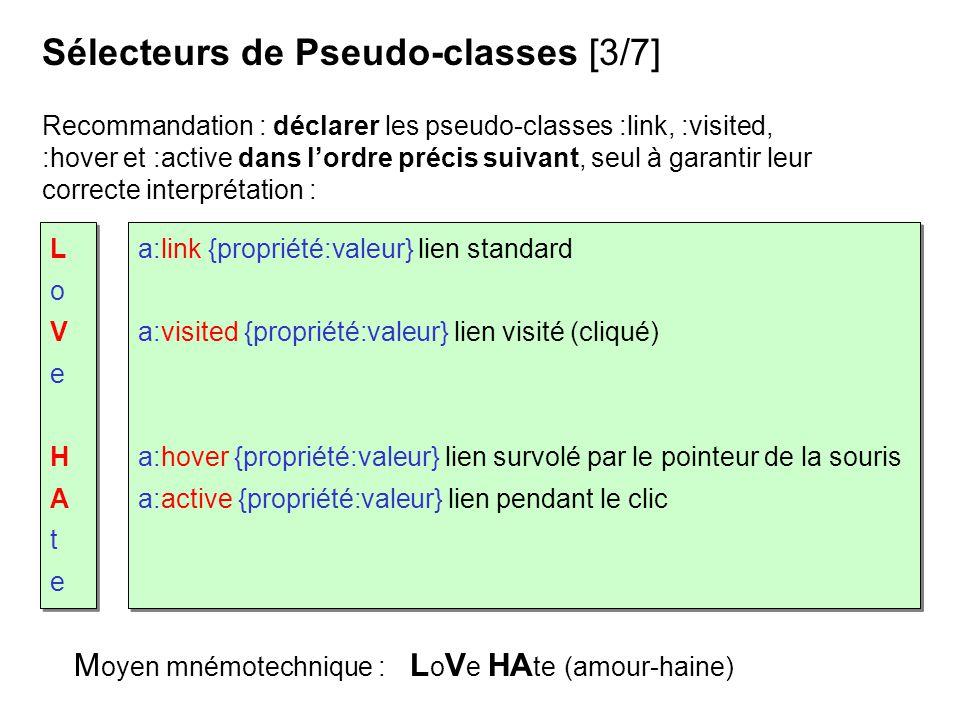 Sélecteurs de Pseudo-classes [3/7]